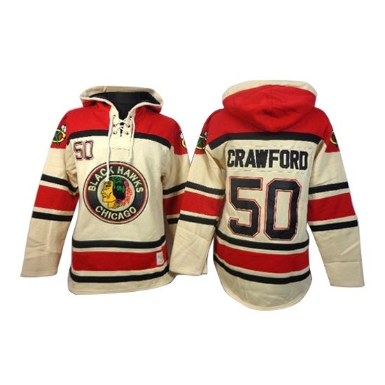 Chicago Blackhawks Jersey Lace-Up Pullover Hoodie